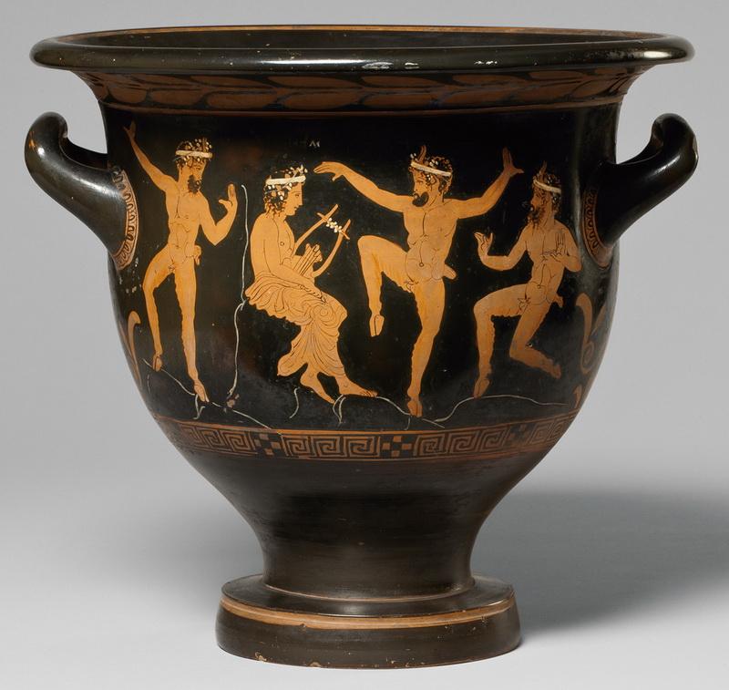 Древнегреческая посуда смешивания воды вина
